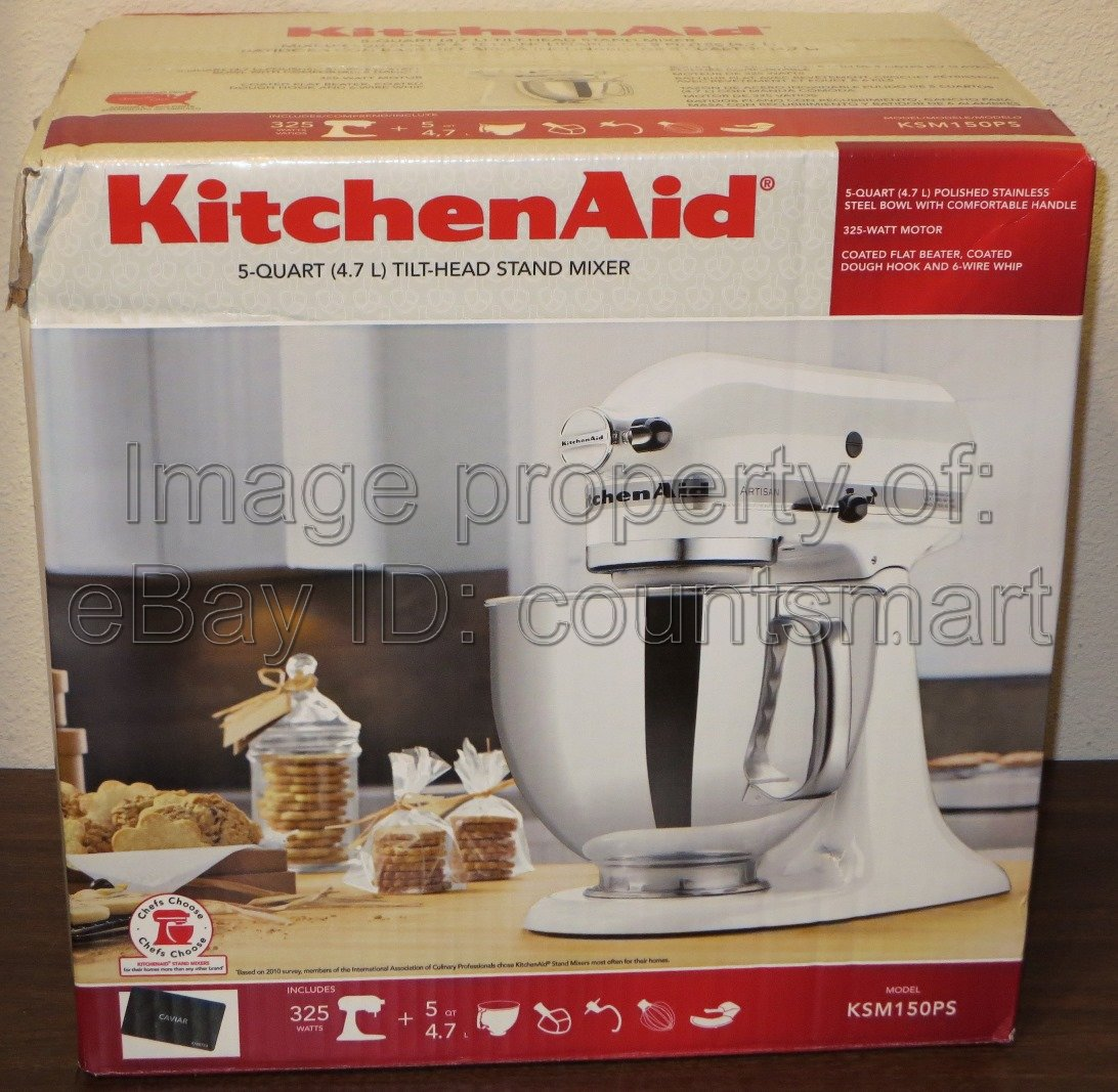 New Kitchenaid Artisan Series 5 Qt Stand Mixer Ksm150pscv